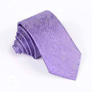 DIEBELLAU Tie Men's Polyester Business Stripe Cashew Flower Tie Animal Bird Bunny Jacquard 6cm Narrow Tie (Color : 9)