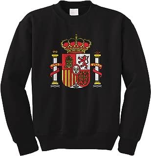 Cybertela Spain Coat of Arms Royal Crown Crest Crewneck Sweatshirt