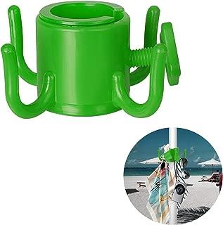 takestop Gancho para sombrilla de Playa 4Percha Colgador Ropa Disfraz Sombreros Bolsos Playa Piscina ombrelloni organizzare Arena Ganchos Color Aleatorio