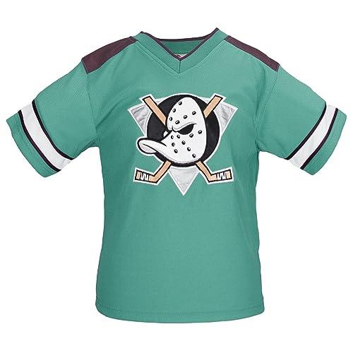 52c14f4ab NHL Youth Anaheim Mighty Ducks Retro Embroidered Logo Shirt