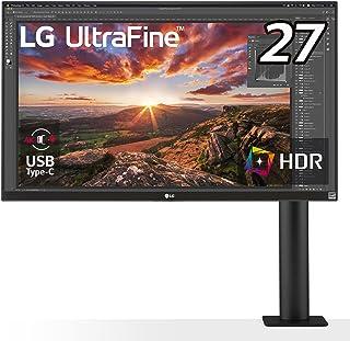 LG エルゴノミクス スタンド モニター ディスプレイ 27UN880-B 27インチ/4K/HDR/IPS非光沢/USB Type-C,HDMI×2、DP/FreeSync/スピーカー/チルト,スイベル,高さ調節,ピボット対応/フリッカーセー...