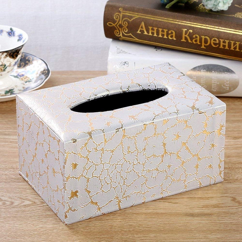 WEILIVE Tissue Box Cover Halter Tissue Box Leder Hause Rollen Tissue Box nach Hause Europäische hochwertige Tissue Box Mode Tissue Box papierrolle Box Taschentuchhalter B07PZBTN2F