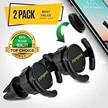 PopGear Pop Clip Car Mount & Holder for Cell Phone [2 Pack] - Air Vent Clip Designed for Android or iPhone with Pop Out Clip || Sturdy Mount with 360 Degrees Grip & Lock for GPS Navigation