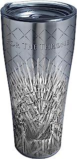 Tervis 1325307 HBO Game of Thrones - For The Throne Vaso de viaje aislado y tapa, 591 ml, acero inoxidable, color plateado...