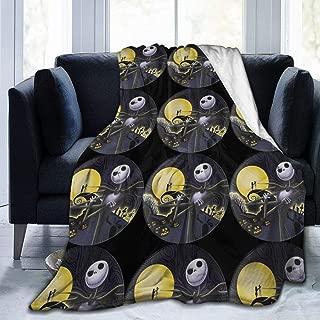 Nightmare Before Christmas Throw Blanket Super Soft Cozy Warm Micro Fleece Anti-Pilling Flannel Blanket,60