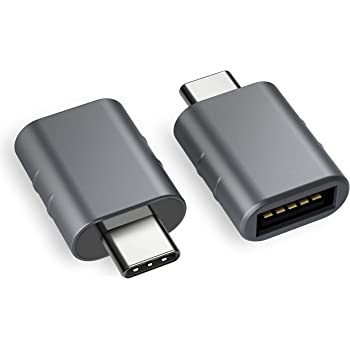 Syntech USB C to USB Adapter (2 Pack), Thunderbolt 3 to USB 3.0 Adapter Compatible with MacBook Pro 2019 and Before, MacBook Air 2020, Dell XPS and More Type C Devices, Space Grey