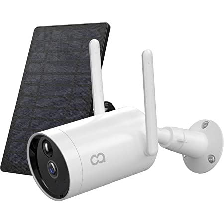 Outdoor Security Camera COOAU Wireless Solar Powered Rechargeable Battery Camera WiFi IP Home Surveillance Camera 1080P Night Vision 4dbi Antenna IP66 Waterproof Human Motion Detection iOS Android