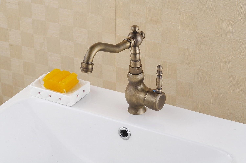 MGADERO Wasserhahn Bad Waschtischarmatur Messing verGoldet Waschbecken Badarmatur Mischbatterie Waschbeckenarmatur für Bad