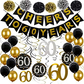 Best gold 60th birthday decorations Reviews