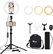 $29 » TBJSM Ring Light Kit 10 inch Dimmable LED Ring Light Selfie Ring Light with Light Stand Carrying Bag Phone Holder for Came...