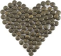 Yasorn Bronze Upholstery Tacks Decorative Furniture Nails DIY Push Pins Vintage Flower-Pattern Head Nail 100pcs