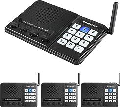 Wireless Intercom System Sanzuco Intercoms Wireless for Home, 10 Channel Wireless Intercom System for Home School Business...