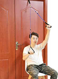 Fanwer Shoulder Pulley - Multi-Use Over Door Pulleys for Shoulder Rehab - Arm Rehabilitation Assisting Exercise for Rotator Cuff Recovery, Increasing Flexibility Stretching, Range of Motion