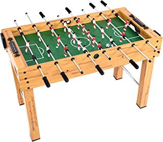 "GYMAX 48"" Foosball Table, Indoor Competition Soccer Game Table for Adults Kids Game Room"