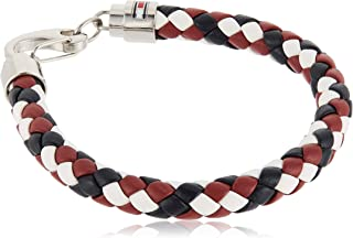 TOMMY HILFIGER MEN'S STAINLESS STEEL & MULTICOLOR LEATHER BRACELETS -2790046