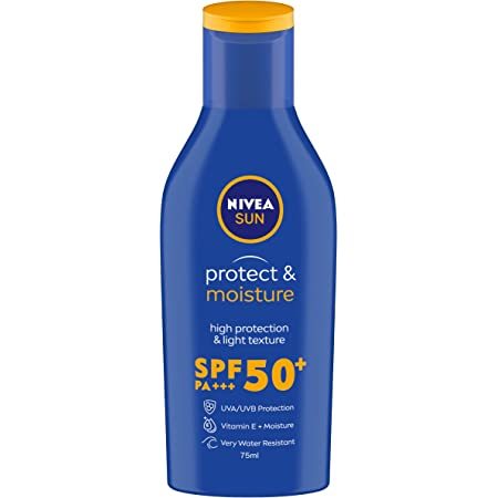 NIVEA Sun Lotion, SPF 50, with UVA & UVB Protection, Water Resistant Sunscreen for Men & Women, 75 ml