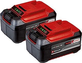Einhell Original Batterie PXC-Twinpack 5.2Ah Power X-Change (Li-Ion, 18 V, 2x 5.2Ah Batteries, Universal for All PXC Devic...