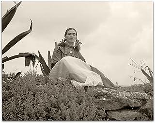 Rare Frida Kahlo Photo Seated Outside - 11x14 Unframed Print - Perfect Vintage Southwest Home Decor Under $15