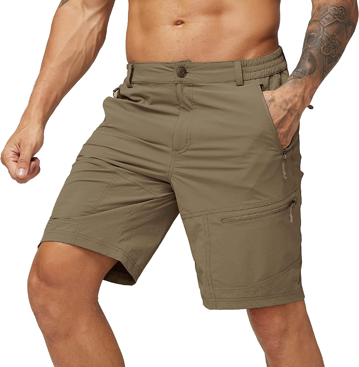 Fresno Mall MIER Men's Challenge the lowest price of Japan Quick Dry Hiking Out Lightweight Shorts Nylon Stretch