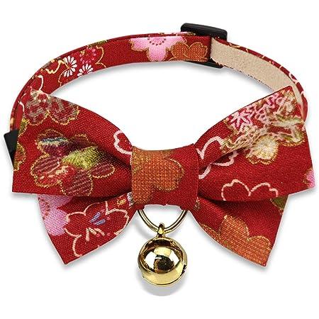 handmade cat collar cat bell,Sakura Cotton cat collar Japanese style collar