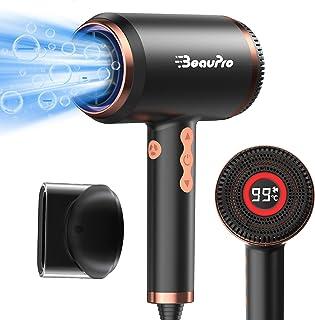 Föhn ionen, BeauPro intelligenter haartrockner mit stufenloser Temperatur- und Geschwindigkeitsregelung, mit LED-Anzeige und Speicherfunktion verwenden