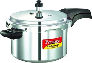 Prestige MPD10702 Deluxe Plus Pressure Cooker, Silver, W 43.0 x H 26.8 x D 18.8 cm, 5Liter, Aluminum