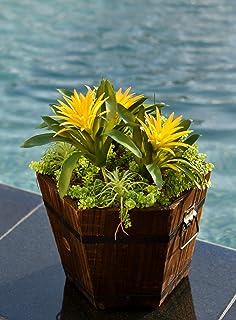 YATAI Creative Hexagon Shape Wooden Pots Garden Flowers Vase – Succulent Plants House Herb Flower Basket Plants Pot Home D...