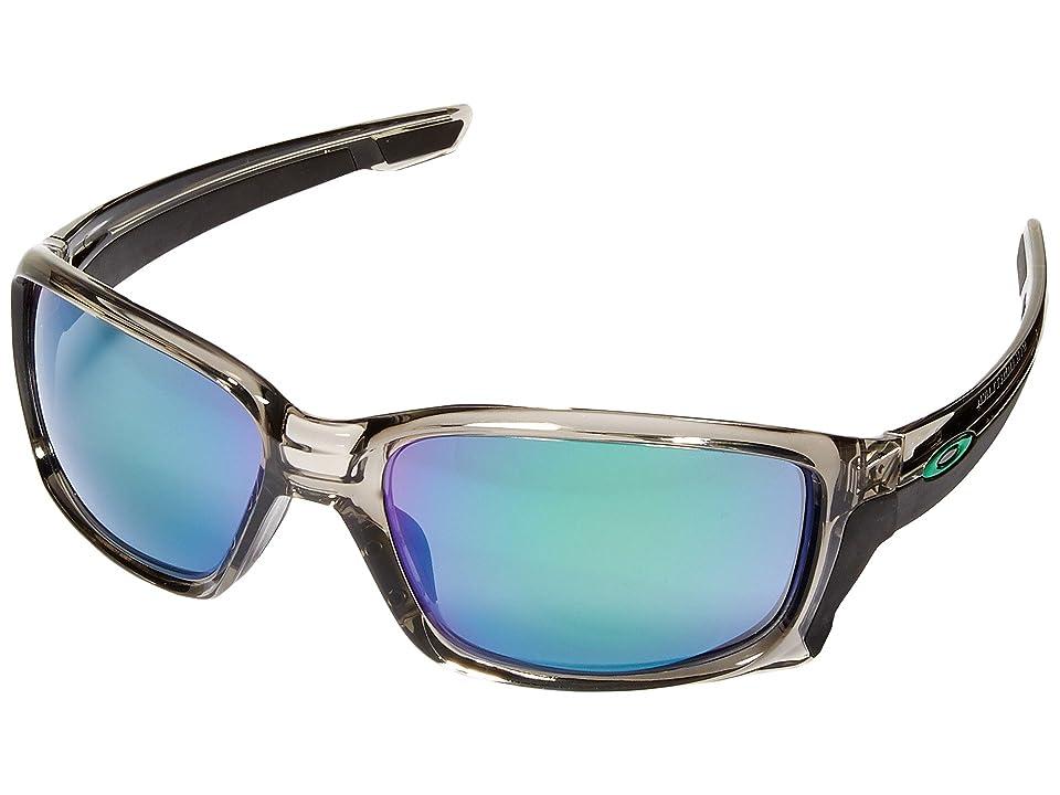 Oakley Straightlink (Grey Ink/Jade Iridium) Fashion Sunglasses