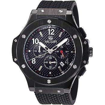 [メグル] 腕時計 クロノグラフ レーシング ブラックゴールド メンズ [並行輸入品]