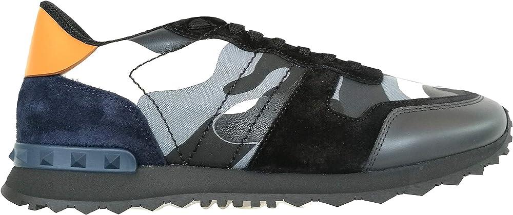 Valentino rockrunner, sneakers, scarpe per uomo ,in pelle,numero 45 eu UY2S0723TCC RE8