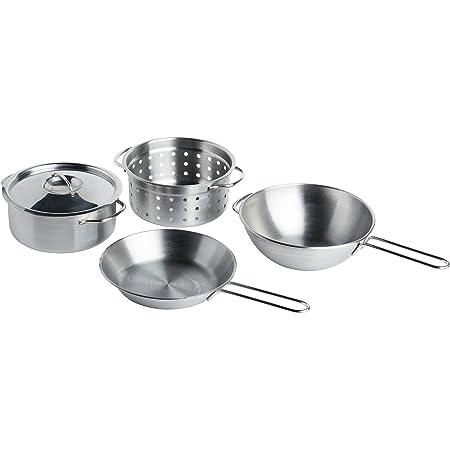 IKEA(イケア) DUKTIG 00167839 調理器具4点セット, ステンレスカラー