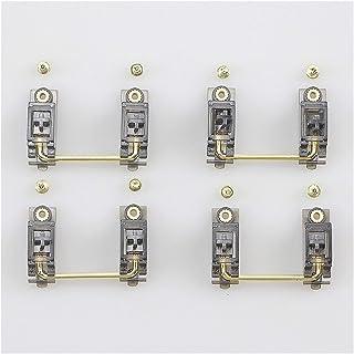 Mekanisk Skruvstabilisator För PCB-elektroplätering Svart Transparent Guld För Personligt Mekaniskt Tangentbord (Colore : ...