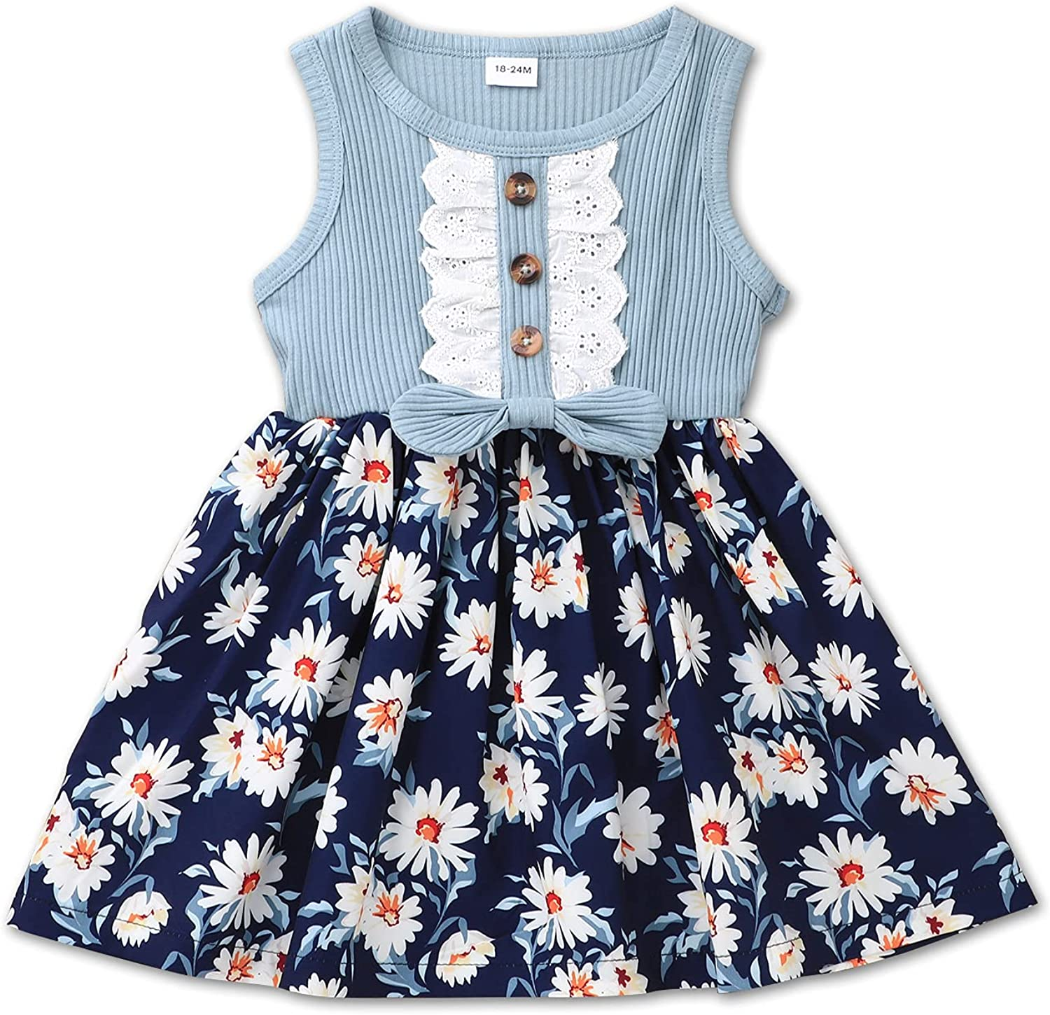 Limuvany Summer Baby Girl Dress Toddler Max 81% OFF Floral Sleeveless Print High quality