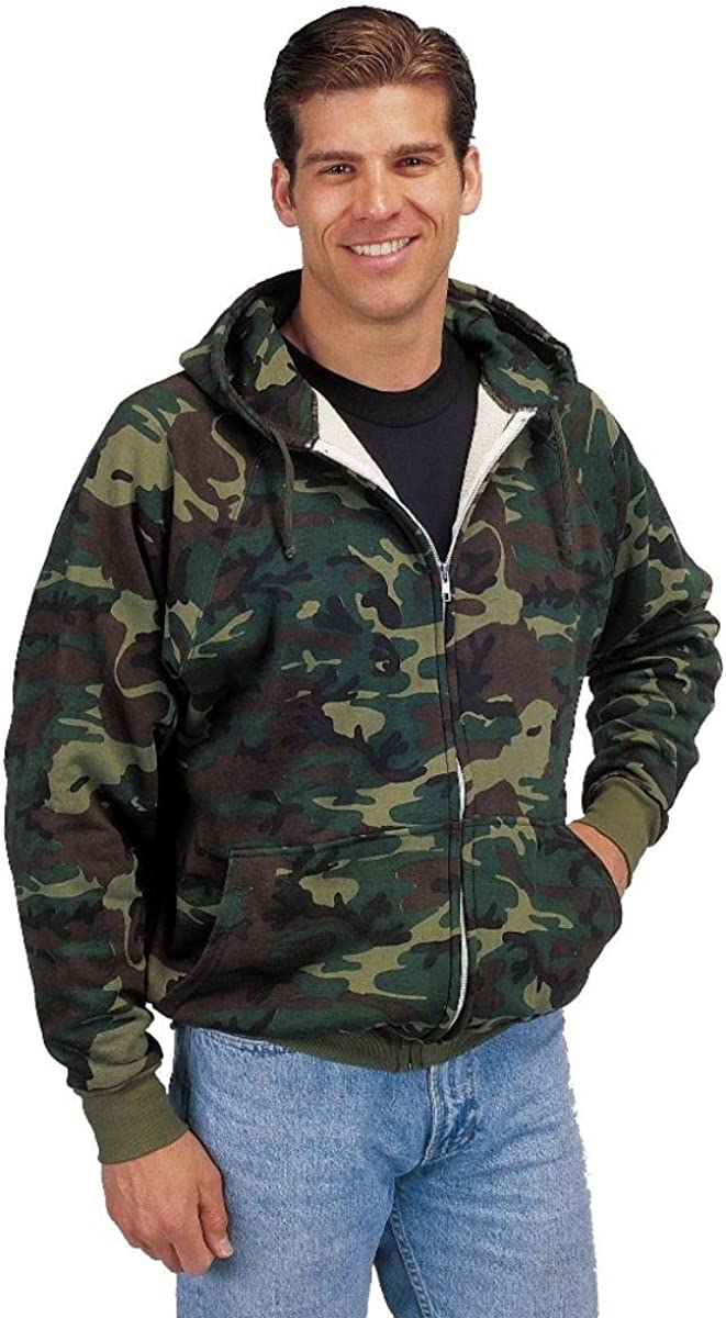 Thermal Sales Time sale Zipper Camo Sweatshirt