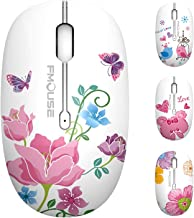 TENMOS M101 Wireless Mouse Cute Silent Computer Mice with USB Receiver, 2.4G Optical Wireless Travel Mouse 1600 DPI Compat...