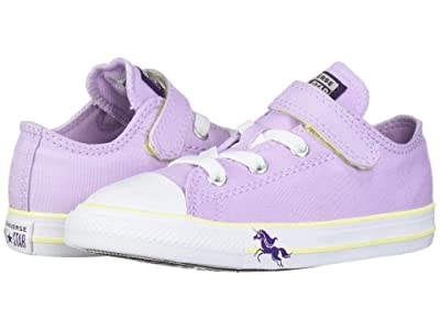 Converse Kids Chuck Taylor(r) All Star(r) Unicorns Ox (Infant/Toddler) (Lilac Mist/Bright Violet/White) Girls Shoes