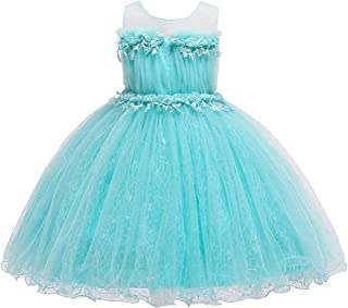 Surprise S Girls Dress Elegant Party Wedding Embroidered Pearl Decoration Princess Dress 3 to 10 Years