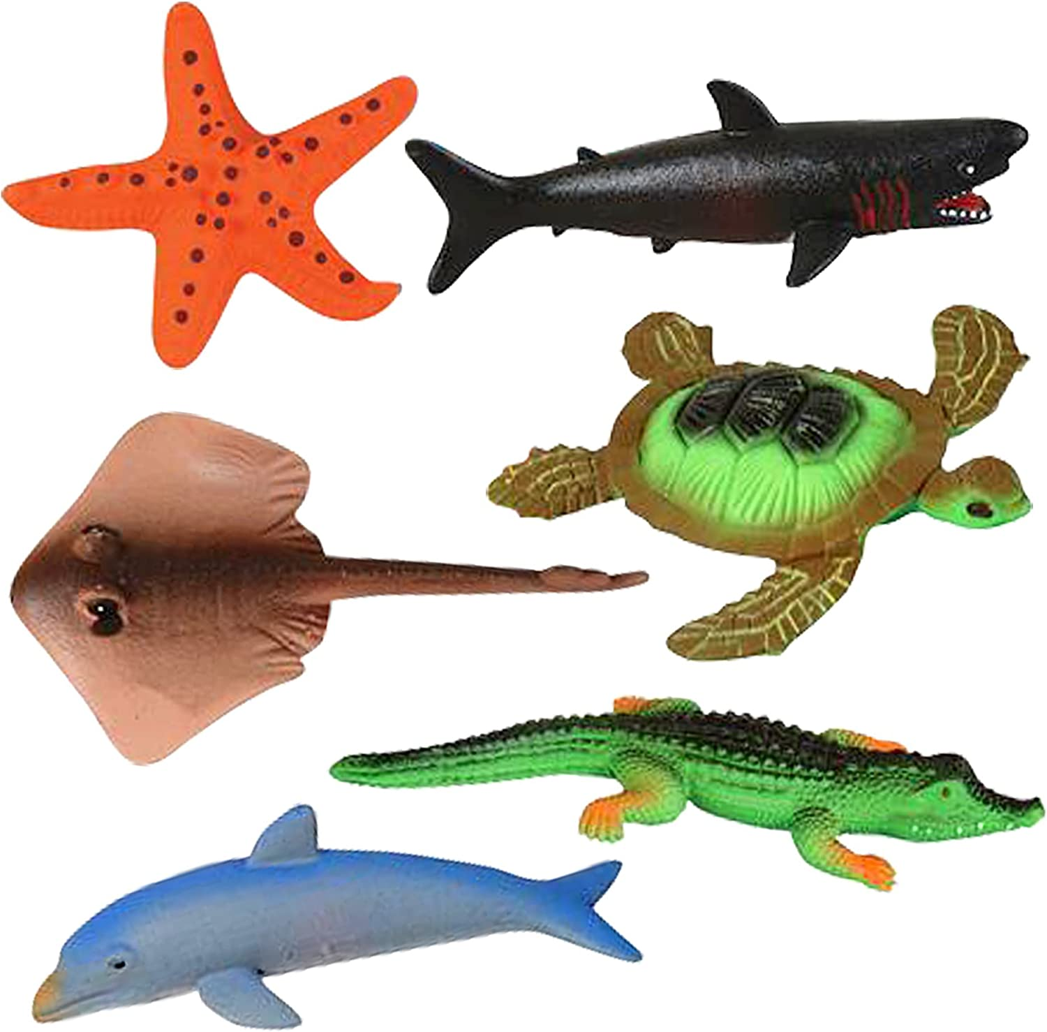 Growing Sea Animals by ArtCreativity 6 Different Water Expanding Sea Creatures  Grows 6X Larger   Amazing Sensory JellyLike Toy   Fun & Educational Gift for Boys & Girls.