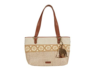 Sakroots Artist Circle Small Satchel (Tobacco Batik World) Satchel Handbags