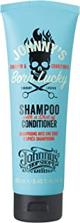 Johnny's Chop Shop Born Lucky 2 in 1 Cleansing Shampoo w/a shot of Conditioner Anti Frizz & Fluff, Pro Vitamin B Protectio...