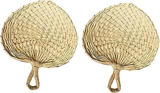 Sunny Hill Vietnam Hand Fan, 2 Pack Palm Leaf Manual Fan