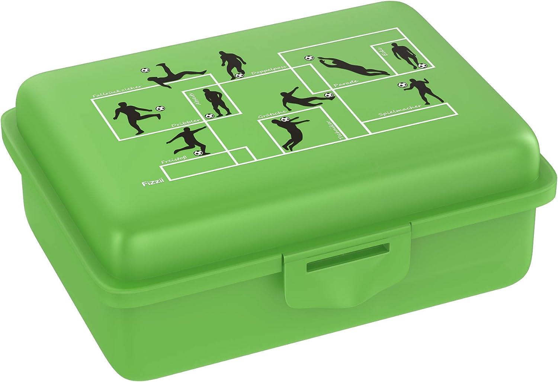 Fizzii Fiambrera (incluye compartimento para frutas y verduras, sin sustancias nocivas, apta para lavavajillas), diseño de fútbol