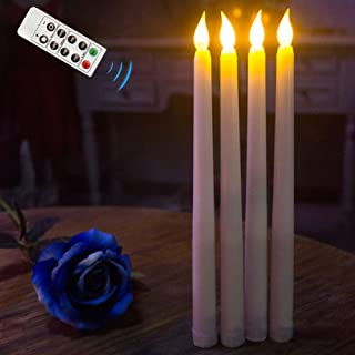 Flameless Taper Candles,Realistic & Bright Flickering Bulb Battery Operated 11