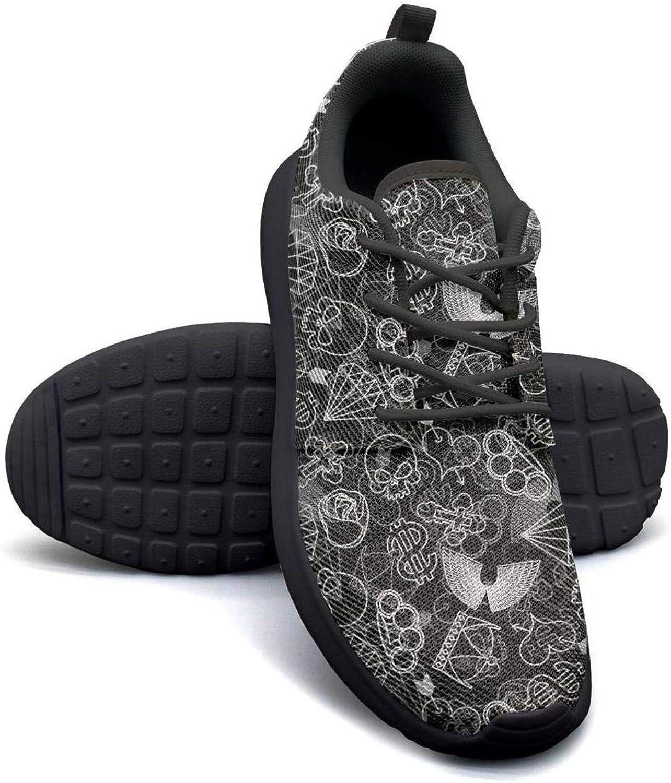 YSLC pinks and Skulls Lightweight Running shoes Women Sneaker Workout Shock Absorbing shoes