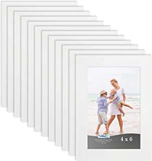 Icona Bay 4x6 Picture Frame (12 Pack, White), Sturdy Wood Composite Photo Frame 4 x 6, Wall or Table Mount, Set of 12 Exclusives Collection