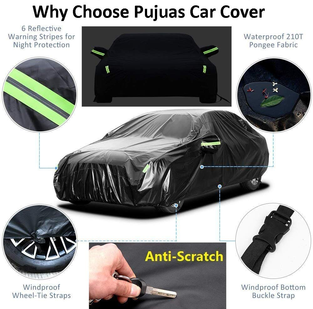 Amazon.es: Pujuas - Lona impermeable para coche SUV, color negro, funda de protección, 4, 8 x 1, 9 x 1, 8 m
