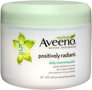 Aveeno Positively Radiant Exfoliating Daily Cleansing Pads, 3 pieces