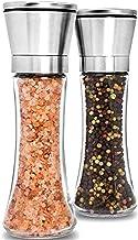 Premium Stainless Steel Salt and Pepper Grinder Set of 2 – Adjustable Ceramic Sea..
