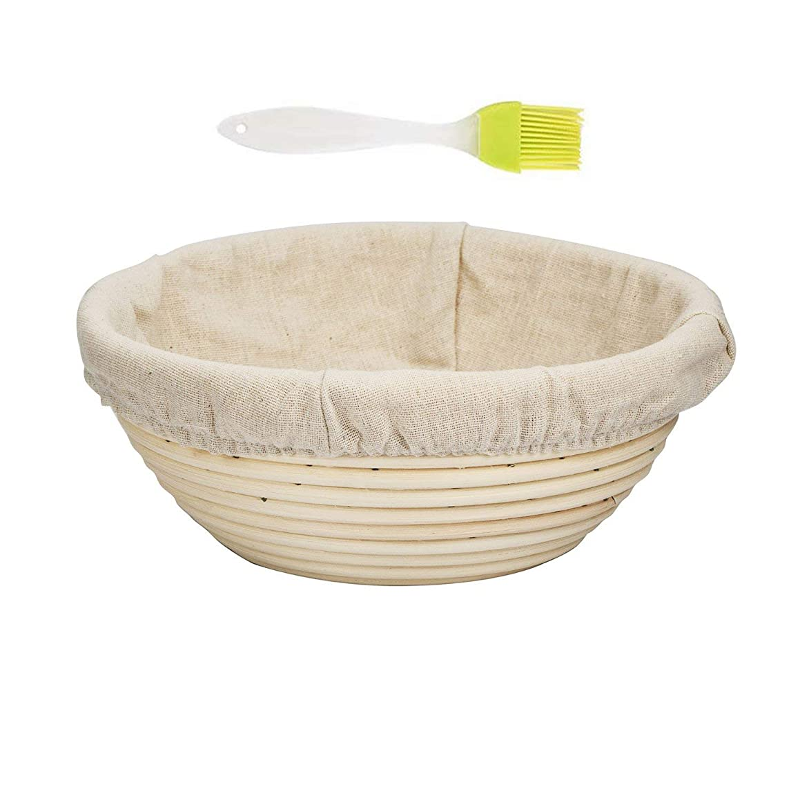 ABeauty 7'' Round Proofing Basket Banneton Proofing Basket Proofing Bowl for Bread Sourdough Dough