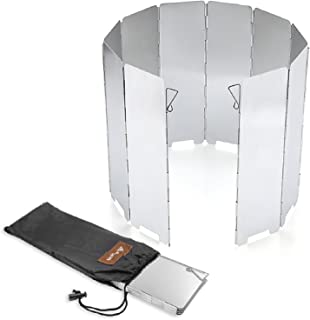 SOLEADER Tall Stove Windscreen Lightweight Compact Folding Camp Stove Windshield 10 Plates